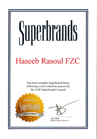 HRC-Superbrands Certificate